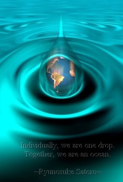 Individually we are one drop together we are an ocean for We are water
