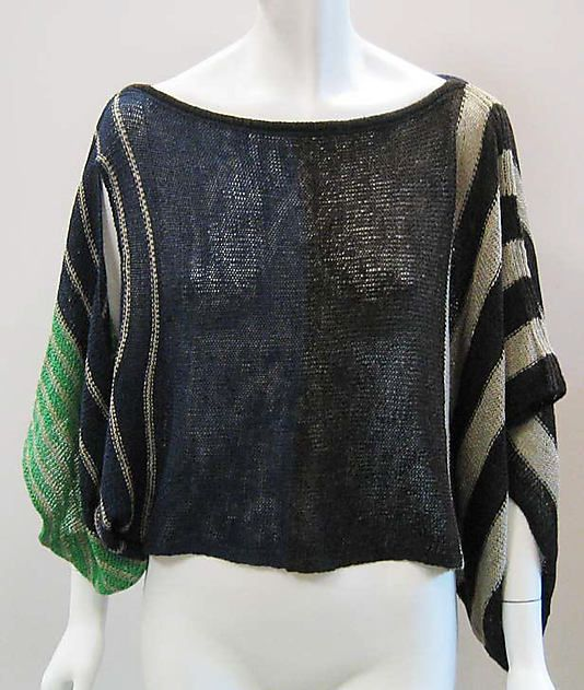 Sweater  Issey Miyake  (Japanese, born 1938)  Design House: Miyake Design Studio (Japanese) Date: 1986 Culture: Japanese Medium: linen/wool blend