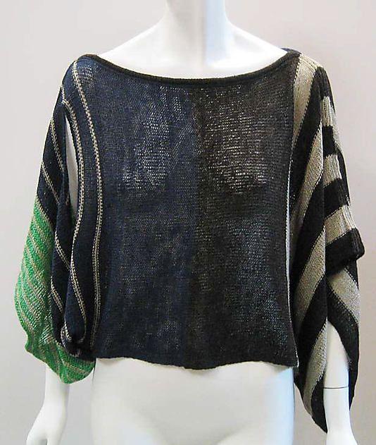 Sweater  Issey Miyake  (Japanese, born 1938)  Design House: Miyake Design Studio (Japanese) Date: 1986 Culture: Japanese Medium: linen/wool blend
