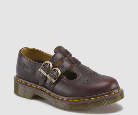 Brown Doc Martins Mary Janes