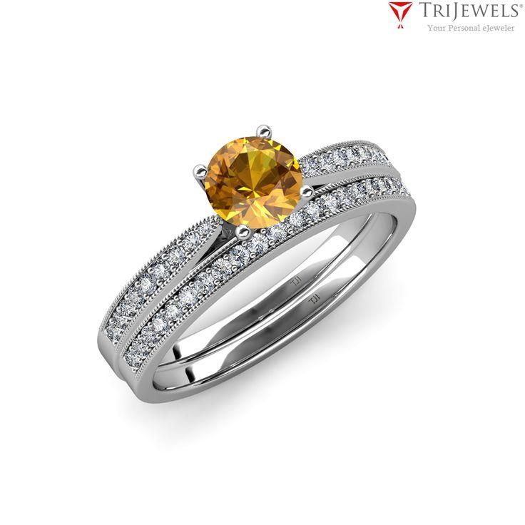 Naturally beautiful.  #Love   #trijewels   #engagementring   #weddingband