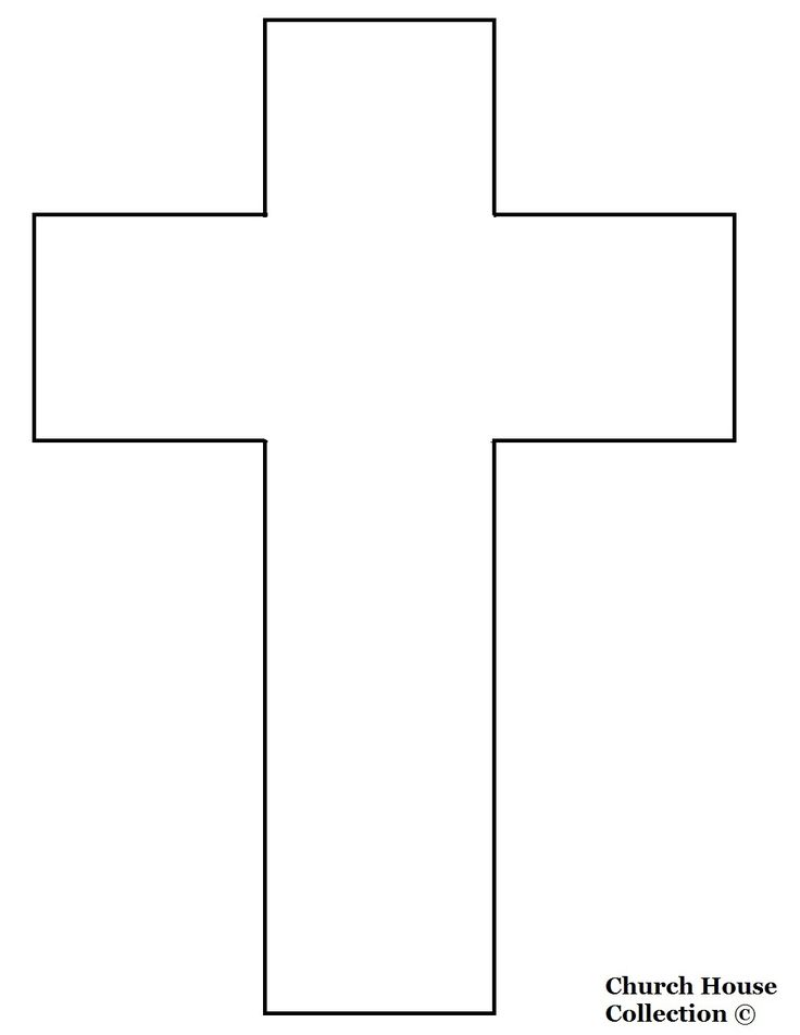 Jesus cross cutout craft easter spring pinterest for Free craft templates to print