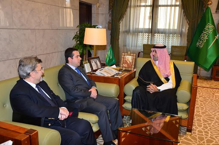 Συνάντηση Ν. Μηταράκη με τον Κυβερνήτη του Ριάντ Πρίγκηπα Turki bin Abdullah bin Abdul Aziz Al Saud