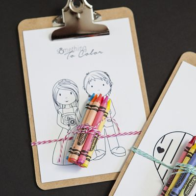 Download these darling and FREE coloring pages to give as favors to keep the kids at your wedding entertained!