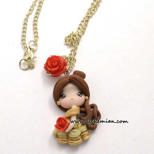 Belle necklace  Beauty and the Beast inspired by AlchemianShop, €25.00