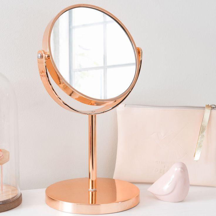 Miroir à poser en métal cuivré SWAGGY COPPER