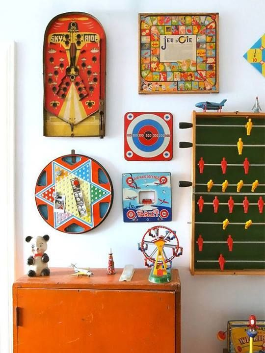 Decorating With Vintage Board Games Fun Games