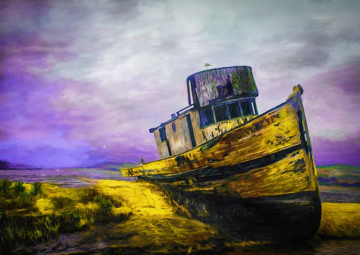 Laid Aground - I love boats – perhaps a carry over for having had the amazing opportunity of being raised beside a lake. It's always sad to see a boat that's been abandoned for whatever reason. I would much prefer to see it receive the rites of a decent ending whether at sea or ashore.