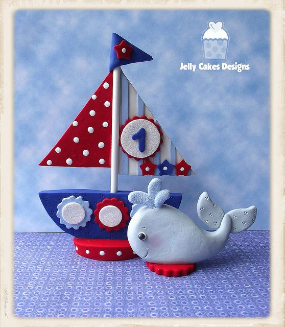 Boy's Sailboat cake topper set | Flickr - Photo Sharing!