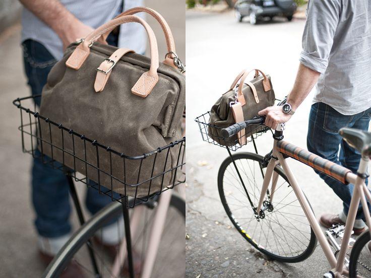 little northwesterner: Canvas Bags, Handmade Bags, Men Bags, Woods Faulk, Wire Baskets, Bike Baskets, Big Bags, Leather Bags, Bike Bags