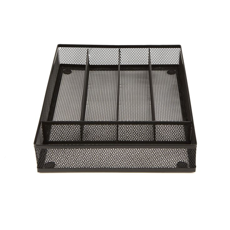 Mindreader Mind Reader 5 Section Cutlery Tray Drawer Organizer (2 Pack) (Black) (Metal)