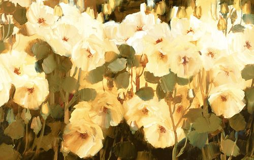 Cluster Of Blooms Art Print by Ann Neate at King & McGaw