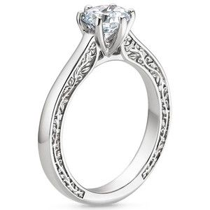 Platinum Secret Garden Ring - love the sides and the setting itself