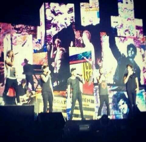 The boys on stage just a couple minutes ago. Mexico show day 2.