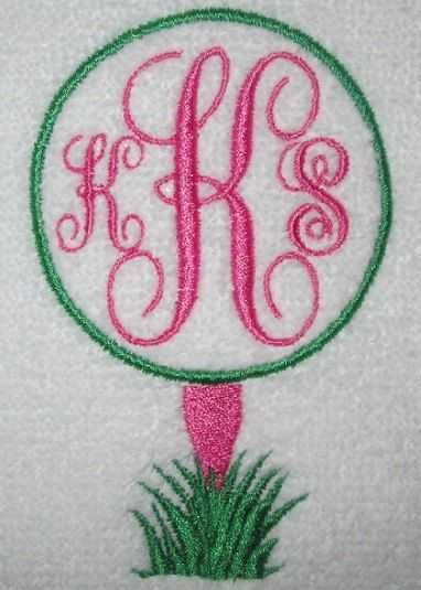 Best images about golf towels on pinterest initials