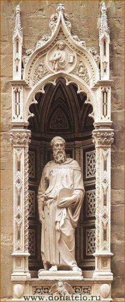 Святой Евангелист Марк / Донателло, великий флорентийский скульптор / www.donatelo.ru В 1411-1412 годах Донателло исполнил статую Святого Марка для ниши на южной стороне здания церкви Ор Сан Микеле.