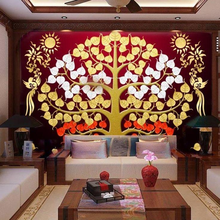 Купить товарИндивидуальные Юго Восточной Азии в Тайском стиле золотая фольга живопись гостиной вход крыльцо фрески дерево Бодхи благоприятный дерево обои в категории Обоина AliExpress. Индивидуальные Юго-Восточной Азии в Тайском стиле золотая фольга живопись гостиной вход крыльцо фрески дерево Бодхи благоприятный дерево обои