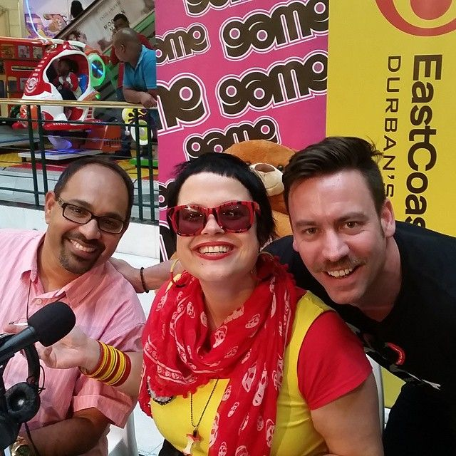 Because Jane, Terence and Rory with a moustache. #ECRToyStory #eastcoastradio #durban #radio #media #music #pavilion #onemillionrand #toystory