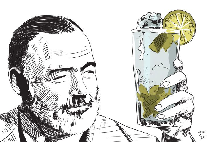 Ernest Hemingway and his mojito