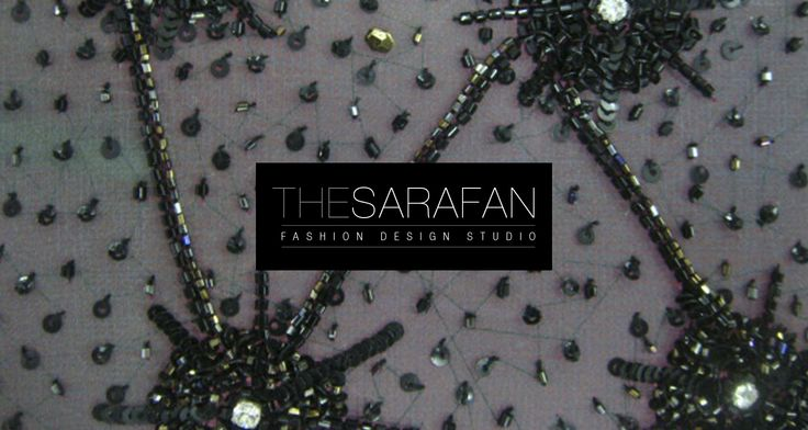 Handmade embroidery developed by TheSarafan fashion design studio