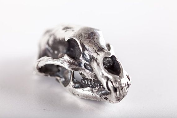 Collana con Teschio di Orso - (made in ITALY, Sterling Silver 925)  #Bear #Skull #Pendant #FeelNoPain #Silver #Jewelry #Anatomy #MadeinItaly