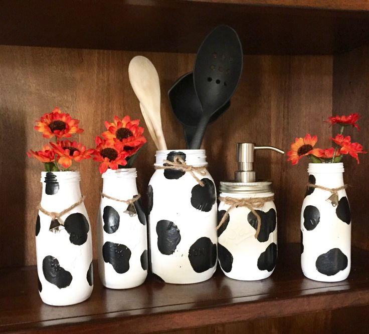 A personal favorite from my Etsy shop https://www.etsy.com/listing/466812555/5-pc-country-cow-kitchen-set