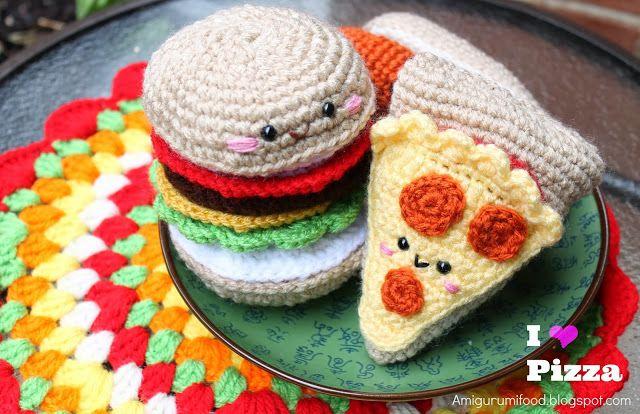 Amigurumi Food : Pizza Amigurumi Food Crochet Pinterest