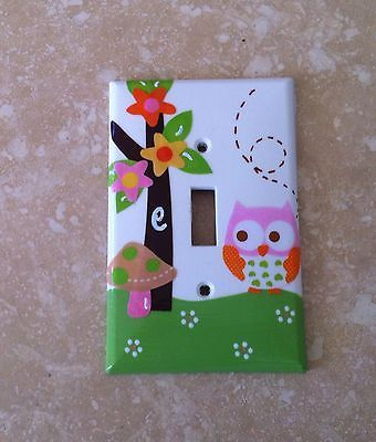 (1) Custom SWITCHPLATE m/w Circo Love N & Nature Target Bedding Woodlands Owl