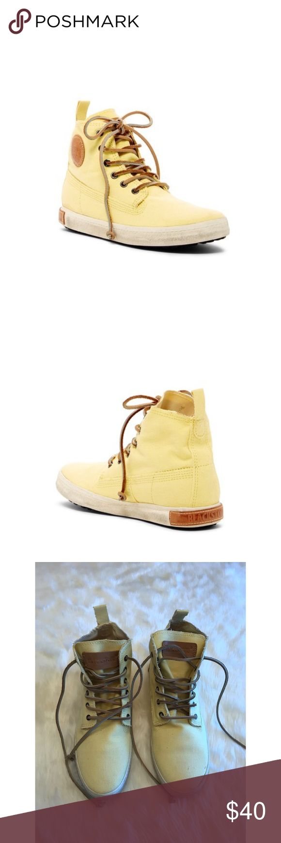 Blackstone High Top Sneakers Yellow canvas high top sneakers in great condition. Blackstone Shoes Sneakers