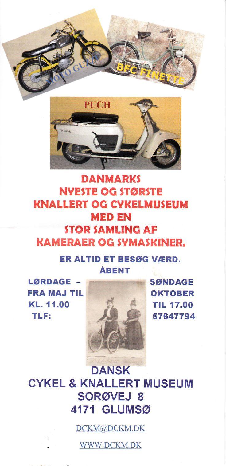 Dansk cykel & knallert museum i Glumsø (ved Næstved) #cykler #knallerter