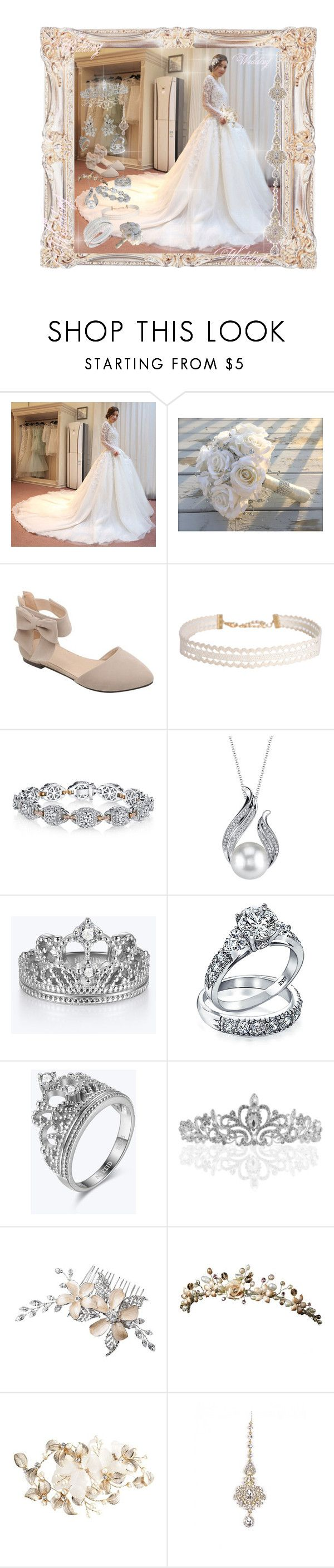 """Wedding <3"" by farrukh-rabia ❤ liked on Polyvore featuring Yacca, Humble Chic, Harry Kotlar, Bling Jewelry and Wedding Belles New York"