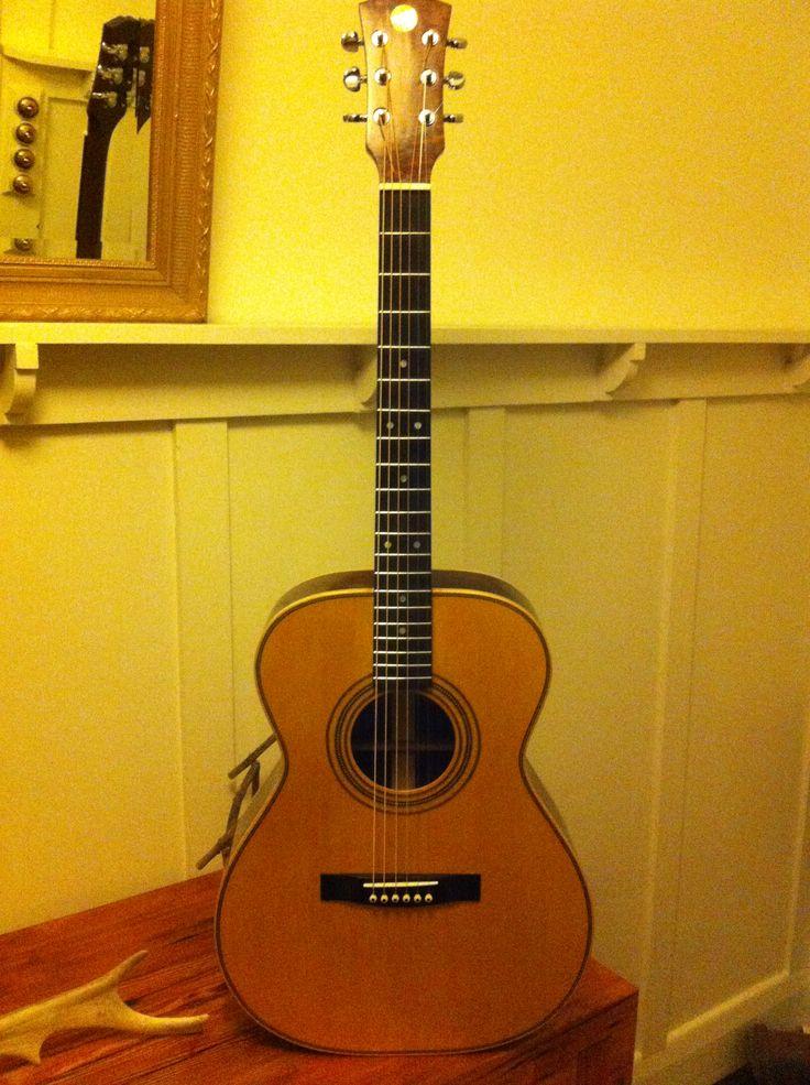 Peter's OM steel string...another custom Roscioli guitar