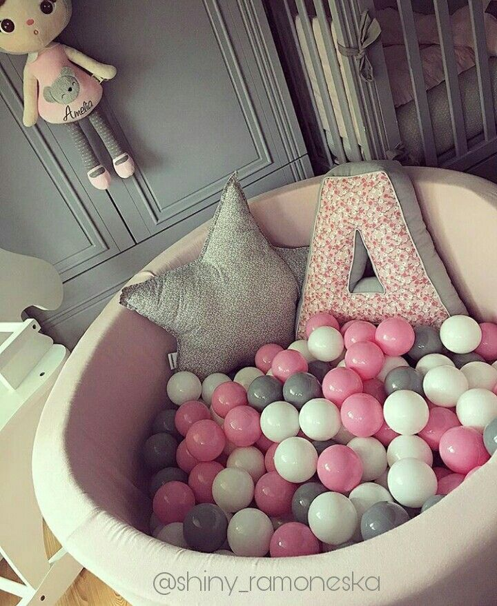 BALL PIT WITH 200 BALLS - LIGHT PINK 40 CM