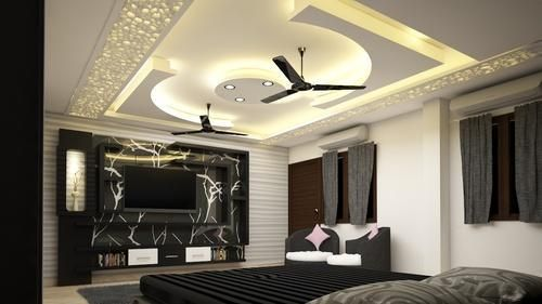 Living Room Main Hall Fall Ceiling Design in 2020 ...
