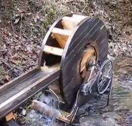 Homemadetools.net - a very good site illustrating and giving info on thousands of homemade tools, set-ups, and pieces of equipment... pictured is a waterwheel electric generator