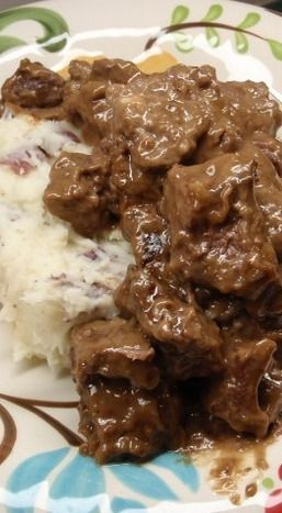 No Peek Beef Tips ~ Very Yummy!! The Meat Turns out Very Tender and The Gravy is The Perfect Consistency. Best Served over Rice, Egg Noodles, or Mashed Potatoes.