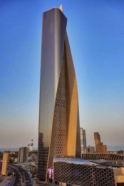City of skyscrapers -  Al Hmara Tower- the skyscraper in Kuwait