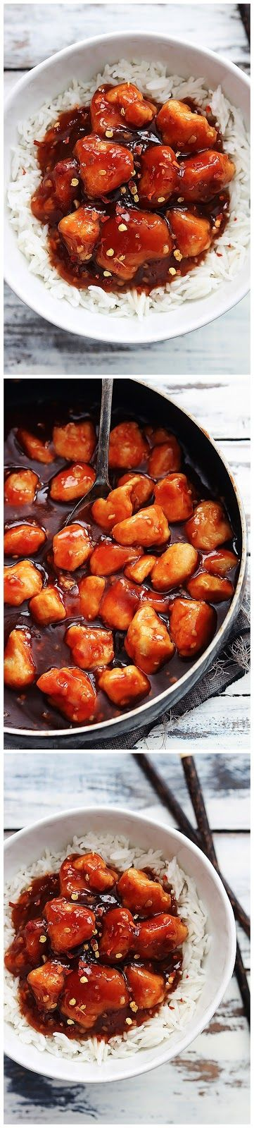 Honey Sriracha Chicken   Ingredients:     3-4 chicken breasts, diced  ⅓ cup cornstarch    sauce     1 cup water  2-3 tablespoons sriracha...