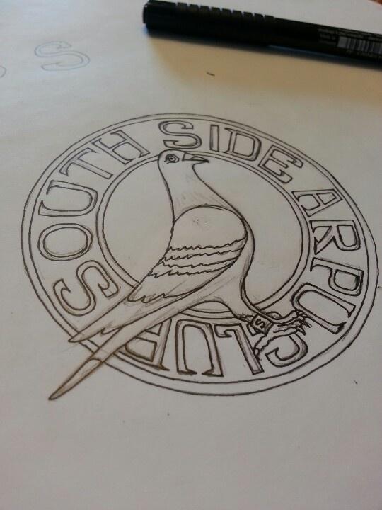 South side pigeon club aka american racing pigeon union logo design