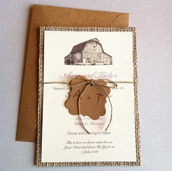Rustic invites - I like the rustic invitation!