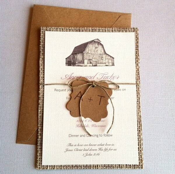 Rustic invites - I like the rustic invitation!