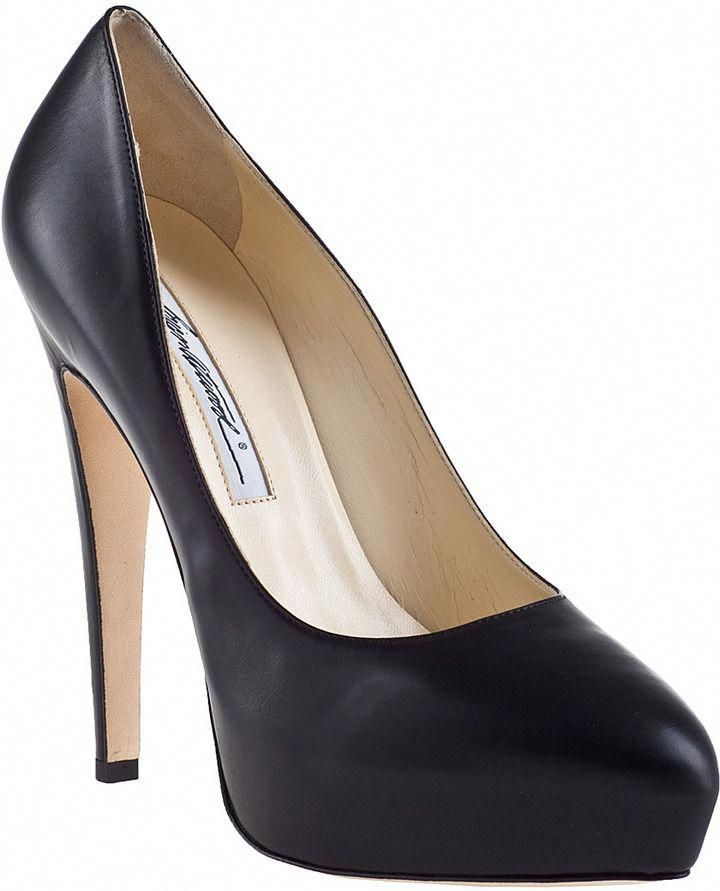 a53d05951 Brian Atwood Obsession Platform Pump Black Leather on shopstyle.com ...