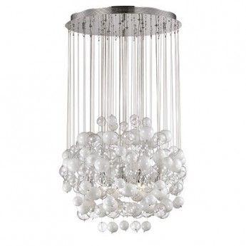 Nowoczesna lampa wisząca z serii Bollicine - producent Ideal Lux. #Ideal_lux #Bollicine #lampy_wiszące #nowoczesne_oświetlenie #szklane_bańki #lampy_do_salonu #lampy_do_jadalni #lampy_kraków #lampy_abanet #abanet_kraków