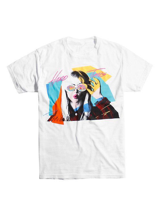 Paramore Hard Times T-Shirt, WHITE