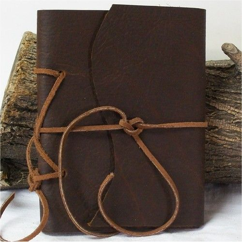 ONE DAY SALE! Rugged Cowhide Leather Pocket Journal Handmade Diary Travel Planner 6X4.5