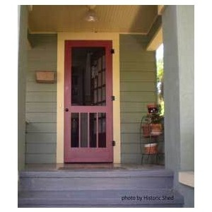 craftsman mission style wood screen door for a historic bungalow in st petersburg florida by historic sheu0027d main house color