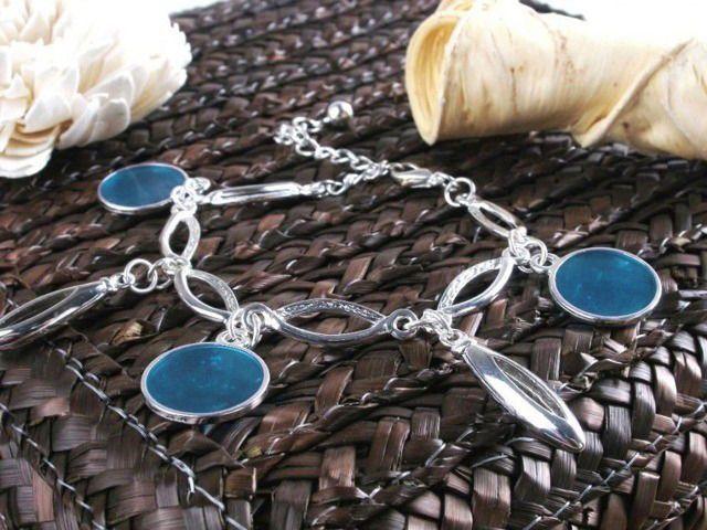 Bransoletka błękitne koła Silvona