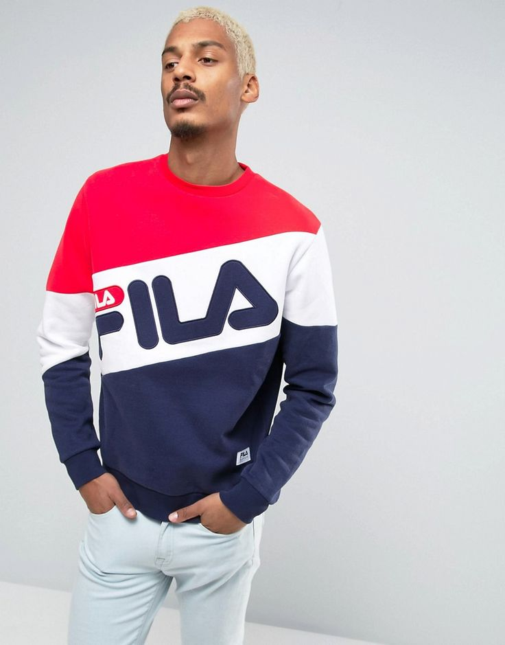 Sweatshirt by Fila Vintage, Soft-touch sweat fabric, Crew neck, Large signature logo, Embroidered branding, Ribbed trims, Regular fit - true to size, Machine wash, 77% Cotton, 23% Polyester, Our model wears a size Medium and is 185.5cm/6'1 tall. ABOUT FILA VINTAGE Founded in 1911 by the Fila brothers in Biella, Italy, Fila packs more than 100 years of heritage into its streetwear designs. After starting life producing undergarments, its iconic designs were adopted by the Casuals move...
