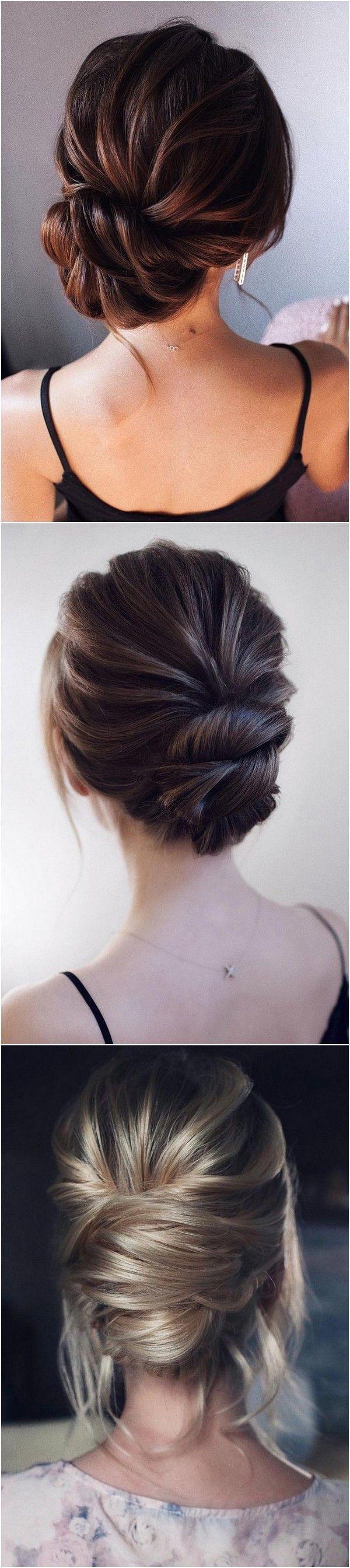 Elegante niedrige Haar-Hochsteckfrisuren, die Frisuren heiraten 3