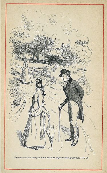 Emma Was Not Sorryto Have Such An Opportunity Of Survey 4 By Hugh Thomson Find This Pin And More On Jane Austen Illustrated